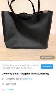 Givenchy small tote bag FINAL SALE