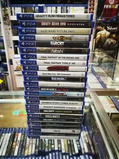 Ps4 Games each below RM100 new and sealed free postage 0124140307 WhatsApp now got discount 6 %until 30th June 2018