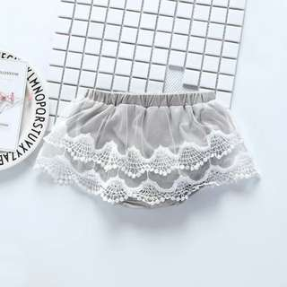 Baby Girls Hollow Out Lace PP Shorts