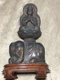 大明宣德年製古銅 普賢菩薩
