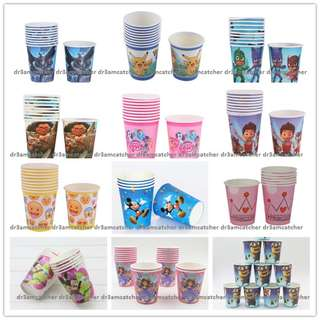 Paper cups for theme parties