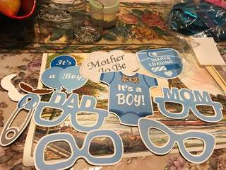 Baby shower party stuff