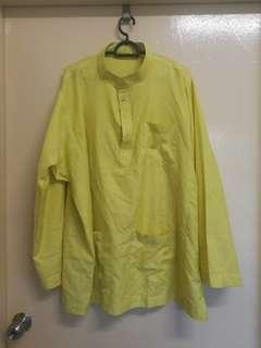 Preloved Yellow Baju Melayu Top #listforikea