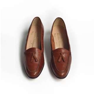 90s 義大利猜謎少女皮鞋 | Ferragamo Tassels US 6.5B EUR 3637