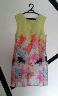 Colorful sleeveless formal dress