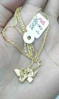 Pure saudi gold necklace,18k