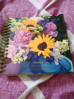 Flowers Name & address book with cards