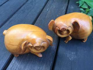 Wood craft Lucky pig