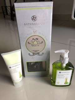 En Toute Saison Juillet Diffuser Set & Luxurious Lemongrass Mint Hand Cream and Handwash