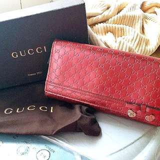 Gucci woc銀包full set😍