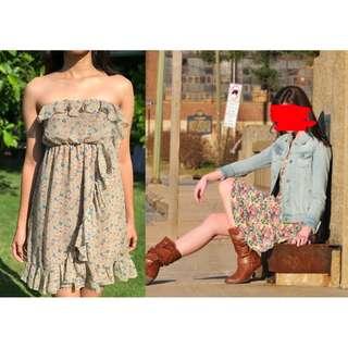 PRELOVED Brown Dress for Women Girls Size Small Hannah Baker Inspired