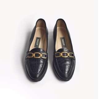 90s 義大利回眸一笑皮鞋 | Bally Loafers US 5.5M EUR 3536