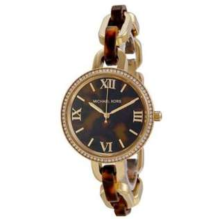 MK Delaney Tortoise-shell Dial Tortoise-shell Acetate and Gold-tone Ladies Watch