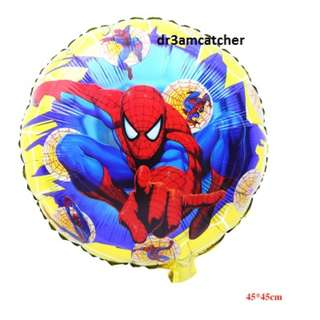 Spiderman foil balloons