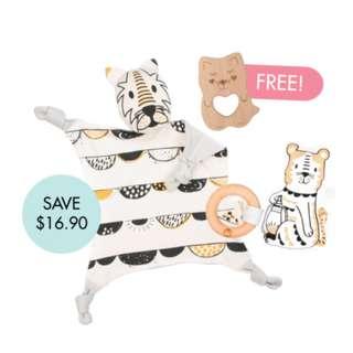 Dash Cuddle Blankie Set (FREE Wooden Teether)