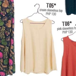 Cream/Beige sleeveless top
