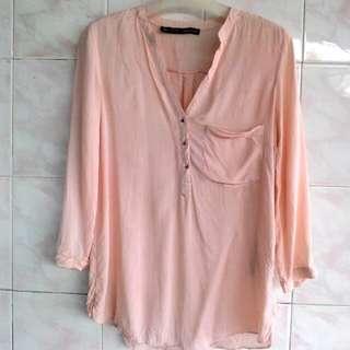 Zara Soft Orange blouse