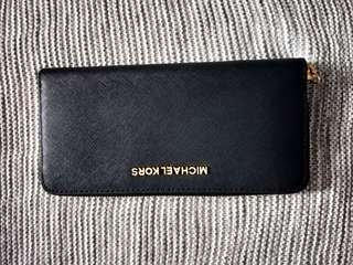 Authentic Michael Kors long wallet black F