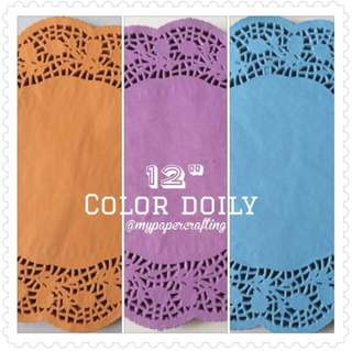 "🚚 12"" color round paper Doily"