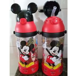 BNIB Disney Black Red Mickey Mouse Water Bottle