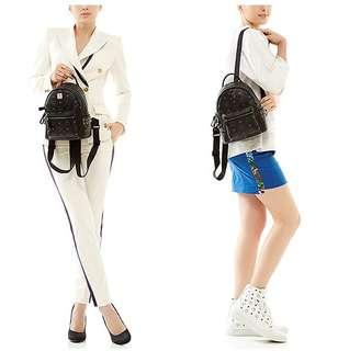 Ransel MCM mini uk19x21 Premium B  nett Black, Brown, Cream, White  (Multifungsi bisa Slempang, Jinjing, Sandang)