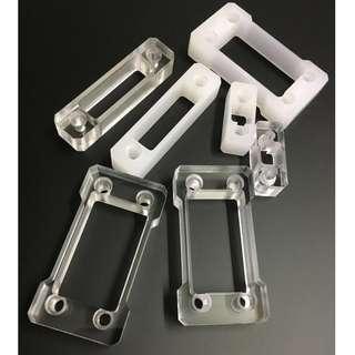 亞克力膠片加工開孔透明白色乳白奶白零件設計生產製作