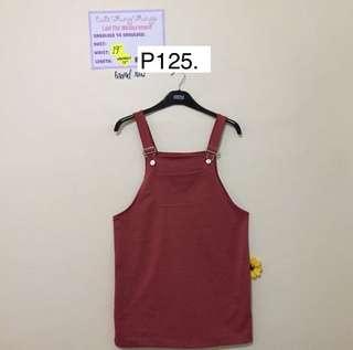 Brand New - Rust Colored Jumper Skirt
