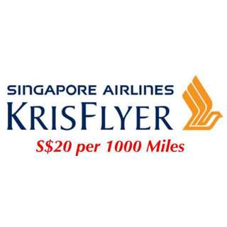 Selling 55,627 Krisflyer Miles - I Help you Purchase a Ticket