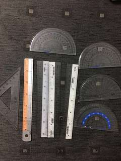 Stationery -Rulers and Protractors (Simei)