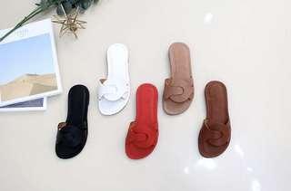 🚚 韓國代購好穿顏色很美質感涼拖鞋