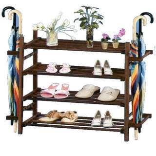 4t wooden shoe rack