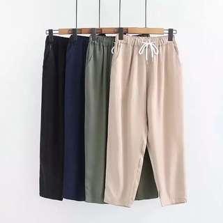 (M~2XL) 2018 summer casual loose elastic waist harem pants