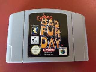 Conkers Bad Fur Day N64 Game Nintendo 64
