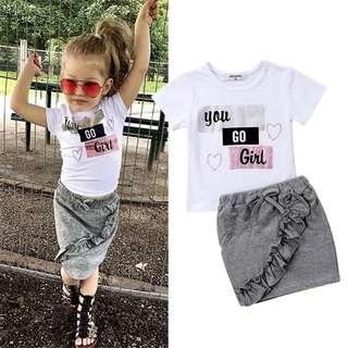 Girl Toddler Sets Blouse & Skirt