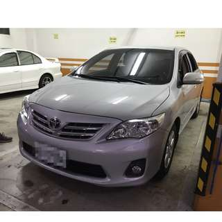 2013年ALTIS銀色跑6萬   大桃園優質二手中古車買賣