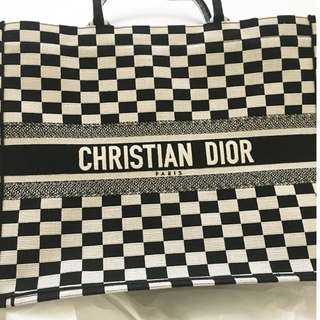Authentic Christian Dior book tote bag