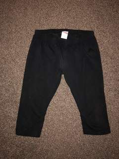 Authentic Adidas Black 3/4 Pants (#1)