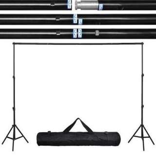Brand New 2.6m x 3m Photo Studio Backdrop Stand + Muslin Cloth Bundle Sales