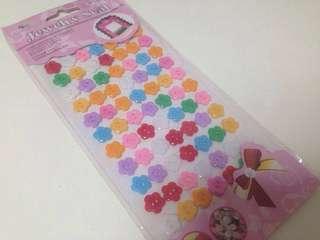 Multi color Flower button design jewelry seal