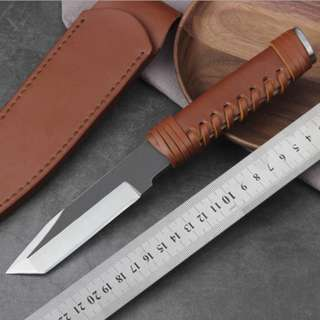 Super Sharp Self Defence Straight Knife 锋利手工防身直刀#409