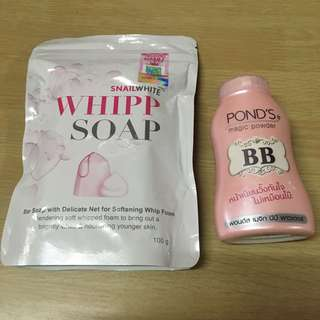 Whipp soap & Ponds bb