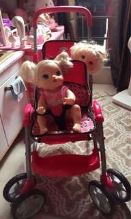 Doll twin stroller