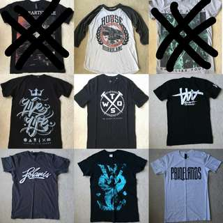 Band Merch sizes small/large all $10 each more on my page