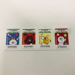 7-11 Line Friends x Sanrio Characters Glass Container Stamps/Stickers
