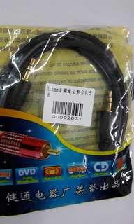 Car 气車音頻線 公對公 1.5米 3.5mm