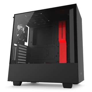 NZXT H500i Black Red TG Tempered Glass ATX Compact Mid Tower with Lighting RGB and Fan Control ATX H500