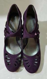🚚 NINE WEST紫色高跟鞋 跟高6公分 沒有瑕疵