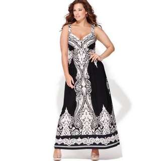 Summer Plus Size Long Dress - COD