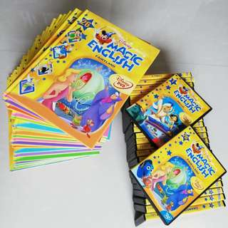 Original Magic English Books and DVDs for Preschoolers (26 books and 26 DVDs)