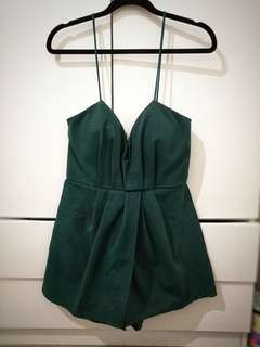 Emerald green playsuit